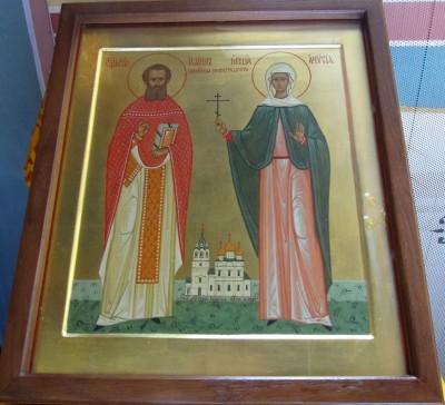 Икона Новомученики Нижегородские,сщмч.Иоанн (Лазарев) и мч. Анисия (Масланова)