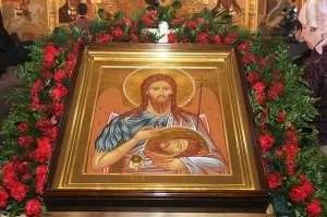Храмовая икона Иоанна Предтечи с частицей его мощей. Фото с сайта Нижегородской епархии