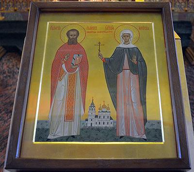 Храмовая икона нижегородских новомучеников священномученика Иоанна и мученицы Анастасии