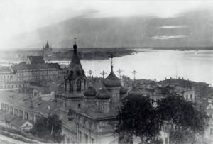 Вид на Предтеченский храм. 1920-е годы