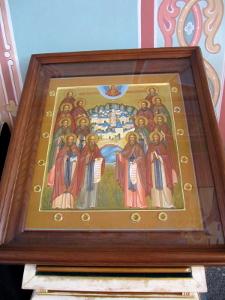 Икона Собор преподобных Старцев Оптинских, 14 мощевиков