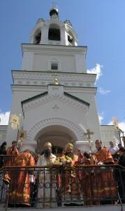 Встреча святыни в храме Рождества Иоанна Предтечи. Фото с сайта Нижегородской епархии