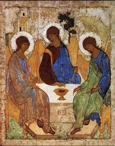 Икона Троица. Прп. Андрей Рублев