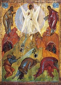Преображение Господне. Мастер круга Феофана Грека. Начало XV в. Государственная Третьяковская галерея, Москва