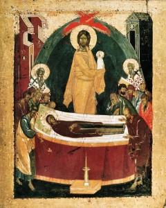 Успение Богоматери. Феофан Грек, XIV век.