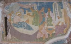 Рождество Богородицы. Фреска Дионисия. XV век