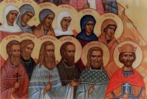 Фрагмент иконы Собор святых земли Нижегородской