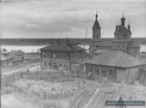 Старинная церковь в Бармино. Фото 1954 года