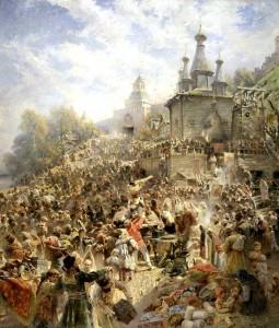 Картина Воззвание Минина на площади Нижнего Новгорода. 1890-ые