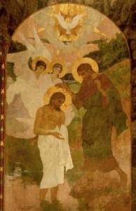 Крещение Господне. Киево-Печерская Лавра. Фреска