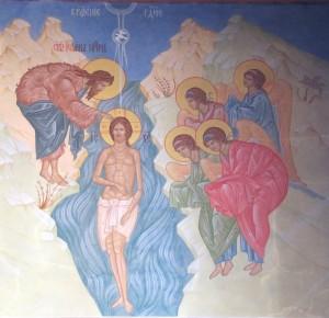 Крещение Господне. Роспись храма Рождества Иоанна Предтечи