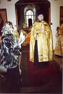 Отец Александр на проповеди в храме Иоанна Предтечи. Фото из личного архива диакона Димитрия Юсова