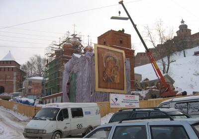 2004 год - начало восстановительных работ. Фото с сайта Нижегородской епархии
